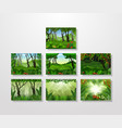 tropical forest background collections vector image vector image