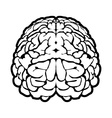 Unique human brain sign vector image