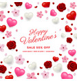 valentines day sale background vector image vector image