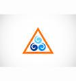 water icon logo vector image