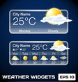 Weather Widgets vector image vector image