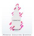 white badge lipstick silhouette sticker vector image