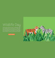 wildlife day web banner vector image vector image