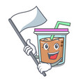 with flag bubble tea mascot cartoon vector image vector image