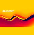 yellow liquid background orange gold wave flowing vector image