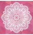 Pink ornate lacy romantic vintage background vector image