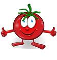 fun tomato cartoon vector image