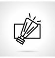Light garland element black line icon vector image