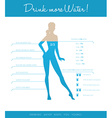 Drink more water every day vector image
