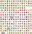 World flags round icons vector image