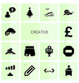 14 creative icons vector image vector image