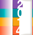 2014 Year Graphic vector image
