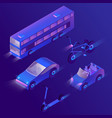 3d isometric urban passenger transportation vector image