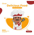 banner design chef vector image