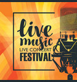 banner for concert of live music with microphone vector image vector image