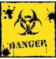 biohazard icon yellow and black vector image