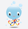 Blue Octopus vector image