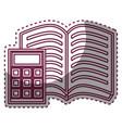 book school with calculator supply icon vector image