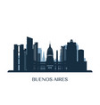 buenos aires skyline monochrome silhouette vector image vector image