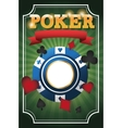 Cards symbols of Poker and chip design vector image vector image