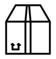 cargo parcel icon outline style vector image vector image