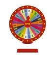 casino wheel icon flat style vector image
