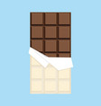 chocolate bar minimal flat design vector image vector image