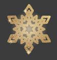 christmas snowflake symbol vector image vector image