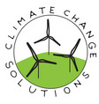 climate change wind vector image vector image