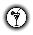 Cocktail glass button vector image vector image