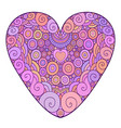 colorful ornamental heart for vector image vector image