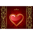 creative valentine greeting card vector image vector image