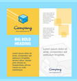 cube company brochure title page design company vector image