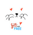 cute cat slogan print vector image vector image