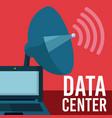 data center technology vector image vector image