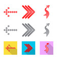 design of element and arrow sign vector image vector image