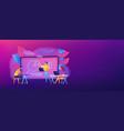 digital classroom header banner vector image vector image