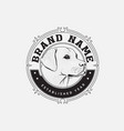 dog brand logo design vector image vector image