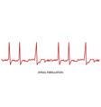 ecg heartbeat line electrocardiogram atrial vector image vector image