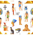 egypt and egyptian mythological signs seamless vector image vector image