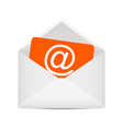 Envelope with e-mail symbol vector image vector image