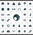 fashion icons universal set for web and ui vector image