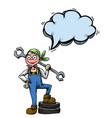 female mechanic-100 vector image vector image