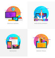 flat designed concepts - graphic design web vector image vector image