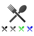 fork and spoon flat gradient icon vector image vector image