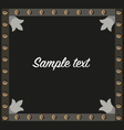 frame medieval wrought vector image vector image