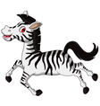 Funny running Zebra cartoon vector image vector image