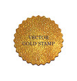 golden stamp vector image