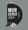 Gun In Murderers Hand vector image