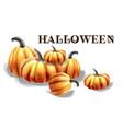 halloween pumpkins watercolor balloons and hat vector image vector image